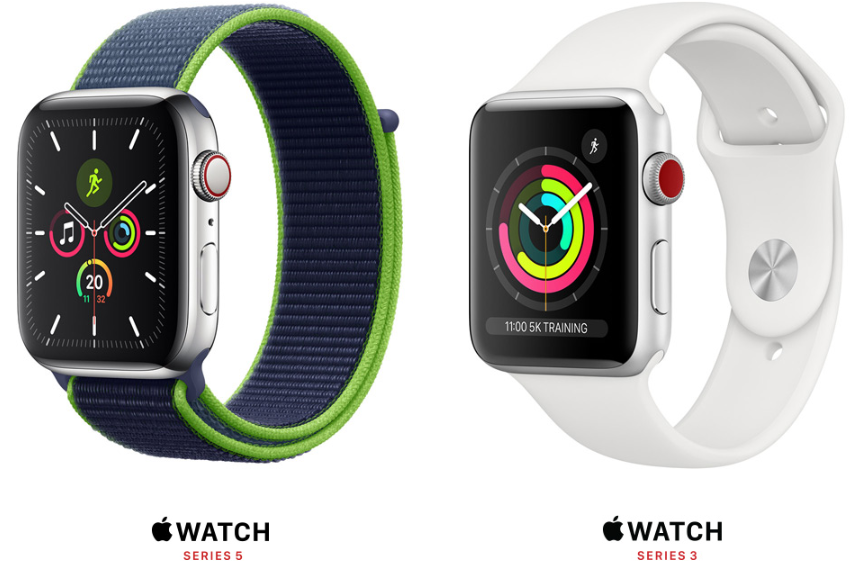 Apple Watch Series 5 vs series 3
